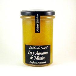 Confiture de 3 agrumes de Menton Le Clos de Laure 340g